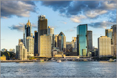 Gallery print  The skyline of Sydney at sunset - Michael Runkel