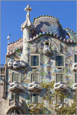 Wall sticker  Facade of the Casa Batllo, Barcelona - Neale Clarke