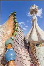 Gallery print  Dragon roof of Casa Batlló, Barcelona - Neale Clarke