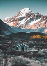 Wall sticker  Hut at Mount Cook, New Zealand - Nicky Price