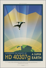 Wall sticker  Retro Space Travel - HD40307G Gravity
