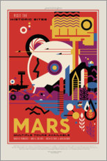 Gallery print  Retro Space Travel, Mars