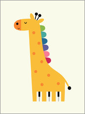 Wall sticker  Giraffe piano - Andy Westface