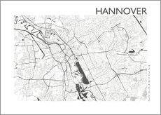 Gallery print  City map of Hannover - 44spaces