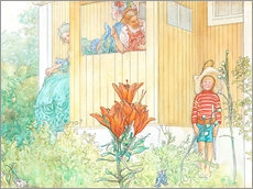 Wall Stickers  dressing up - Carl Larsson