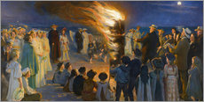 Wall sticker  Midsummer night bonfires on the beach of Skagen - Peder Severin Krøyer