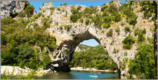 Wall sticker  The stone bridge Pont-d'Arc over the river Ardèche - Thomas Klee