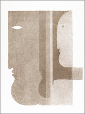 Gallery print  Two profiles to the left, one to the right - Oskar Schlemmer