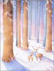 Wall sticker  Little deer in the forest - Rebecca Richards