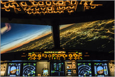 Gallery print  Airbus A320 Landing in Moscow, Russia - Ulrich Beinert