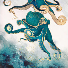Gallery print  Octopus, underwater dream V - SpaceFrog Designs