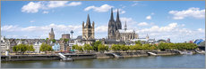 Gallery print  Cologne Rheinufer with cathedral and town hall - Jan Christopher Becke