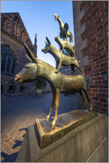 Gallery print  The statue of the Bremen Town Musicians - Jan Christopher Becke