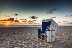 Wall sticker  Beach chair on Sylt at sunset - Heiko Mundel