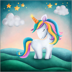 Wall sticker  Cute unicorn - Elena Schweitzer
