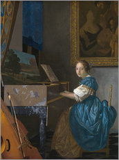 Gallery print  young woman seated at a virginal - Jan Vermeer