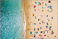 Gallery print  Aerial View Of People on Summer Holiday - Radu Bercan