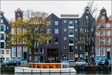 Gallery print  Dutch Houses Architecture Along Amsterdam Water Canal - Radu Bercan