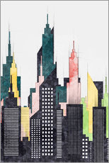 Gallery print  Colorful City Of New York City Sketch - Radu Bercan