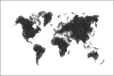 Gallery print  Map Of The World Sketch - Radu Bercan