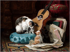 Wall sticker  The guitar lesson - Henriette Ronner-Knip