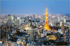 Wall sticker Tokyo tower and skyline at night