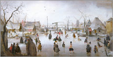 Wall sticker  Winter landscape with skaters - Hendrick Avercamp