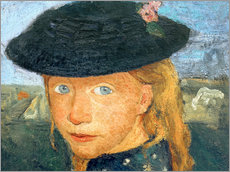 Wall sticker  Head of a little girl with straw hat - Paula Modersohn-Becker