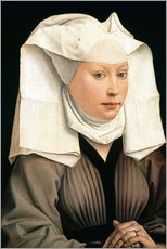 Wall sticker  Portrait of a Woman with a Winged Bonnet - Rogier van der Weyden