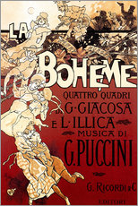 Wall Sticker  La Boheme of Puccini - Adolfo Hohenstein