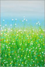 Wall sticker  DELICATE FLOWERS - Herb Dickinson