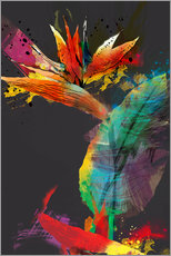 Wall sticker  Bird of paradise flower - Ella Tjader