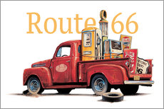 Wall sticker Route 66 Relics