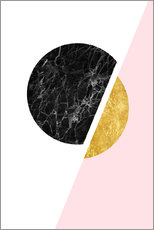 Gallery print  Scandinavian composition with marble and gold - Radu Bercan