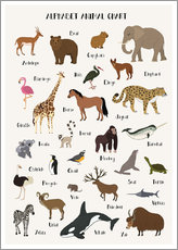 Wall sticker  Learn the ABC - English - Kidz Collection