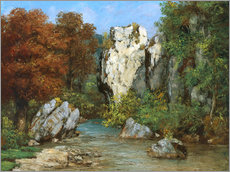 Wall sticker  Landscape by the stream - Gustave Courbet