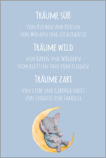 Wall sticker  Träume süß, wild und Zart (German) - Kidz Collection