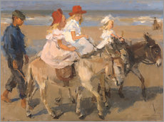 Gallery print  Donkey rides on the beach - Isaac Israels