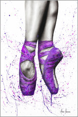 Wood print  On tiptoe - Ashvin Harrison