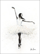 Acrylic print  The white swan - Ashvin Harrison