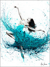 Wood print  Ballerina Waves - Ashvin Harrison