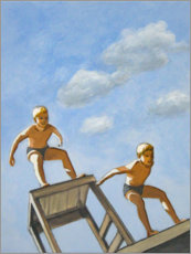 Wall sticker  Two diving boys - Sarah Morrissette