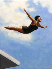 Premium poster  Diver in the air - Sarah Morrissette