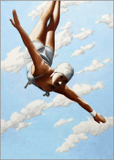 Canvas print  Diver in the clouds - Sarah Morrissette