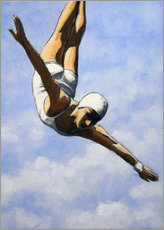 Premium poster Diver in the clouds II