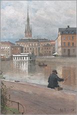 Canvas print  View of the Royal Academy - Alfred Bergström