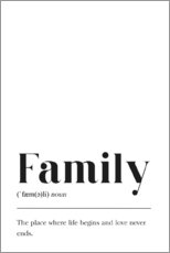 Canvas print  Family Definition - Pulse of Art