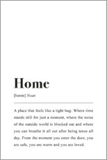 Poster  Home Definition - Johanna von Pulse of Art