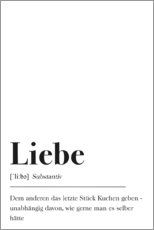 Premium poster  Liebe Definition (German) - Johanna von Pulse of Art