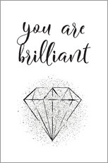 Aluminium print  You are brilliant - Martina illustration